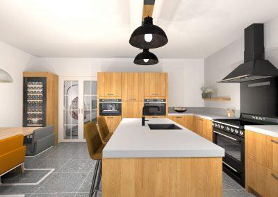Stoere houten keuken